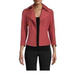 Anne Klein $149 Wide Collar Stretch Twill Jacket